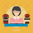 Reading Holiday Recreation Icon