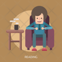 Reading Read Sit Icon