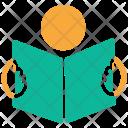 Reading Book Text Icon
