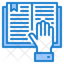 Book Hand Learning Icon