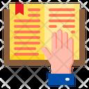 Reading Book Book Hand Icon