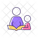 Reading Book With Child Icon