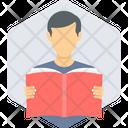 Reading Boy Man Icon