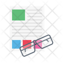 Glasses Reading Paper Icon