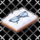 Book Reading Glasses Reading Goggles Icon