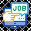 Electronic Job Search Icon