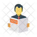 Newspaper Ads Reading Icon