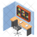 Reading Room Library Office Place Icon