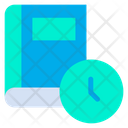 Clock Book Planning Icon