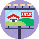 Real Estate Advertising Home Sale Billboard Icon