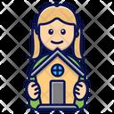 House Girl Dollhouse Icon