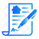 Property Agreement Document House Icon