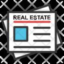 Newspaper Estate Business Icon
