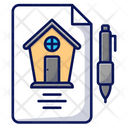 Real Estate Contract House Icon