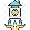 Real Estate Crowdfunding Icon