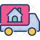 Real Estate Delivery Carry Truck Icon