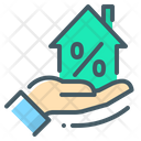 Discount Hand Home Loan Icon