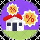 Real Estate Discount Real Estate Discount Icon
