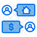 Real Estate Discuss Chat Transaction Icon