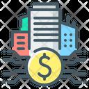 Real Estate Fintech Finance City Icon