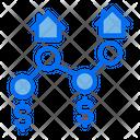 Real Estate Link Link Promotion Icon