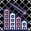 Real Estate Losses Real Estate Graph Down Loss Icon