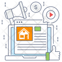 Real Estate Marketing Estate Publicity Estate Promotion Icon