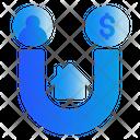 Magnet Owner Money Icon