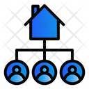 Investation Real Estate House Icon