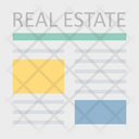Real Estate Paper Real Estate Files Rental Agreement Icon