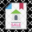 Sale House Document Icon
