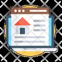Real Estate Website Online Estate Estate Marketing Icon