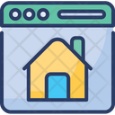 Real Estate Website Online Property Research Icon