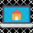 Real Estate Website Online Buy Property Laptop Icon