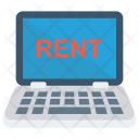 Laptop Rent Device Icon