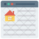 Online Housing Webpage Icon