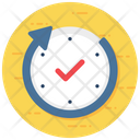 Real Time Live Reporting Actual Time Icon