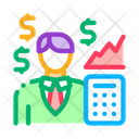 Realtor Transfers Profit Icon