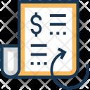 Receipt Dollar Processing Icon
