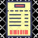 Receipt Barcode Bill Icon