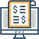 Receipt Dollar Payment Icon