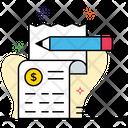 Banking Receipt Financial Receipt Billing Receipt Icon
