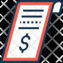 Receipt Voucher Dollar Icon