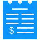 Receipt Bill Payment Receipt Icon