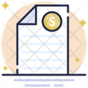 Receipt Cheque Voucher Icon