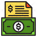 Money Receipt Business Icon