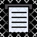 Receipt Document Sheet Icon