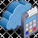 Cloud Computing Receipt Icon