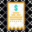 Payment Receipt Color Icon