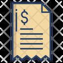 Receipt Bill Finance Bill Icon